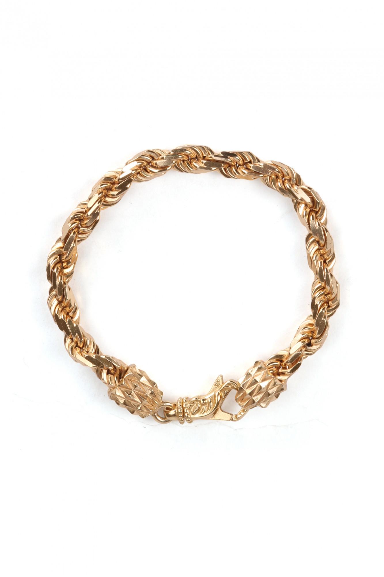 EB French Rope Gold Bracelet