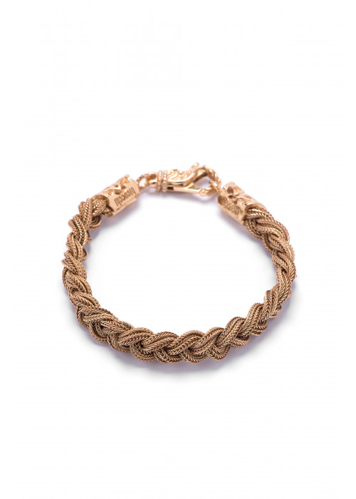 EB Small Braided Gold Bracelet