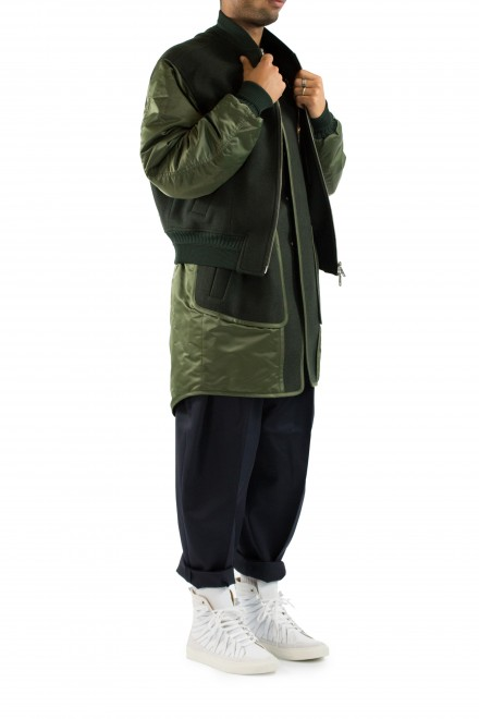 Juun.J Khaki Doubled Jacket