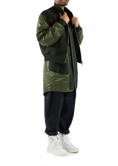 Juun.J Khaki Doubled Jacket