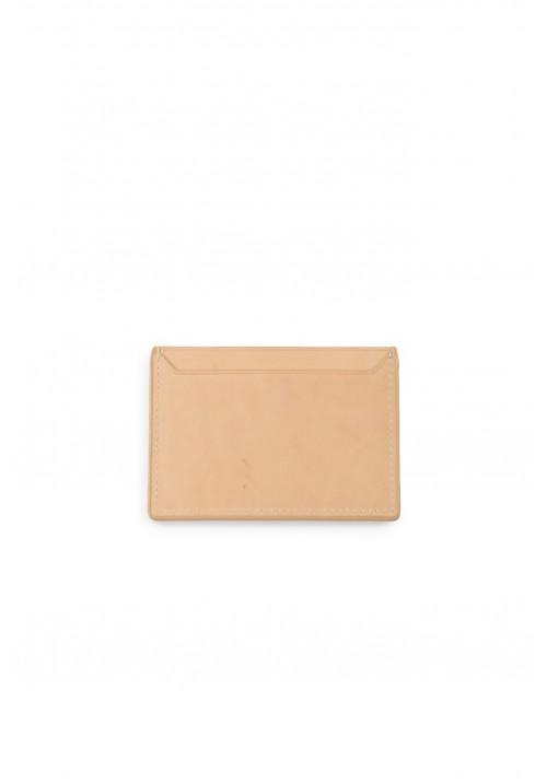 Juun.J Tan Leather Card Wallet
