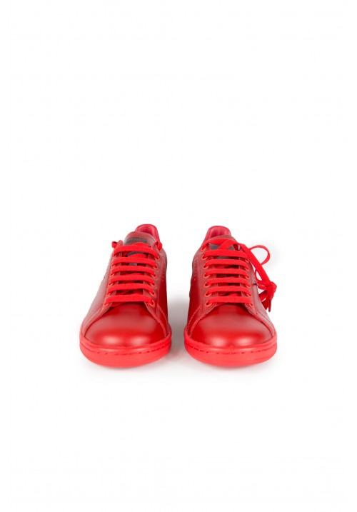 Raf Simons Red Stan Smith Sneakers